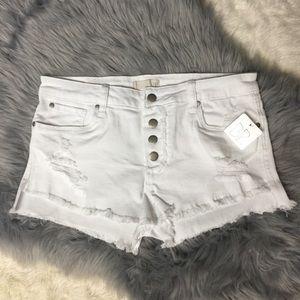 BP White Denim Shorts